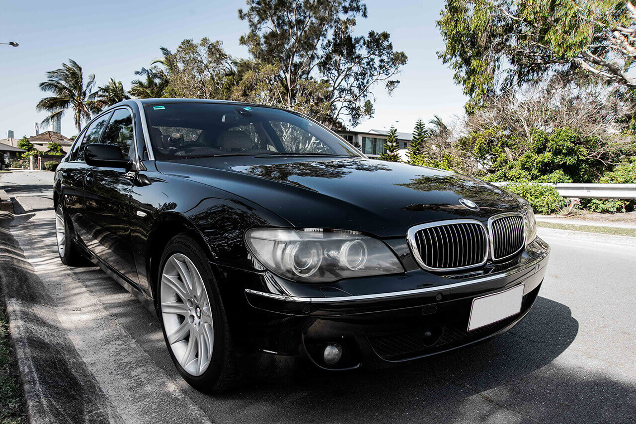 Black BMW front picture