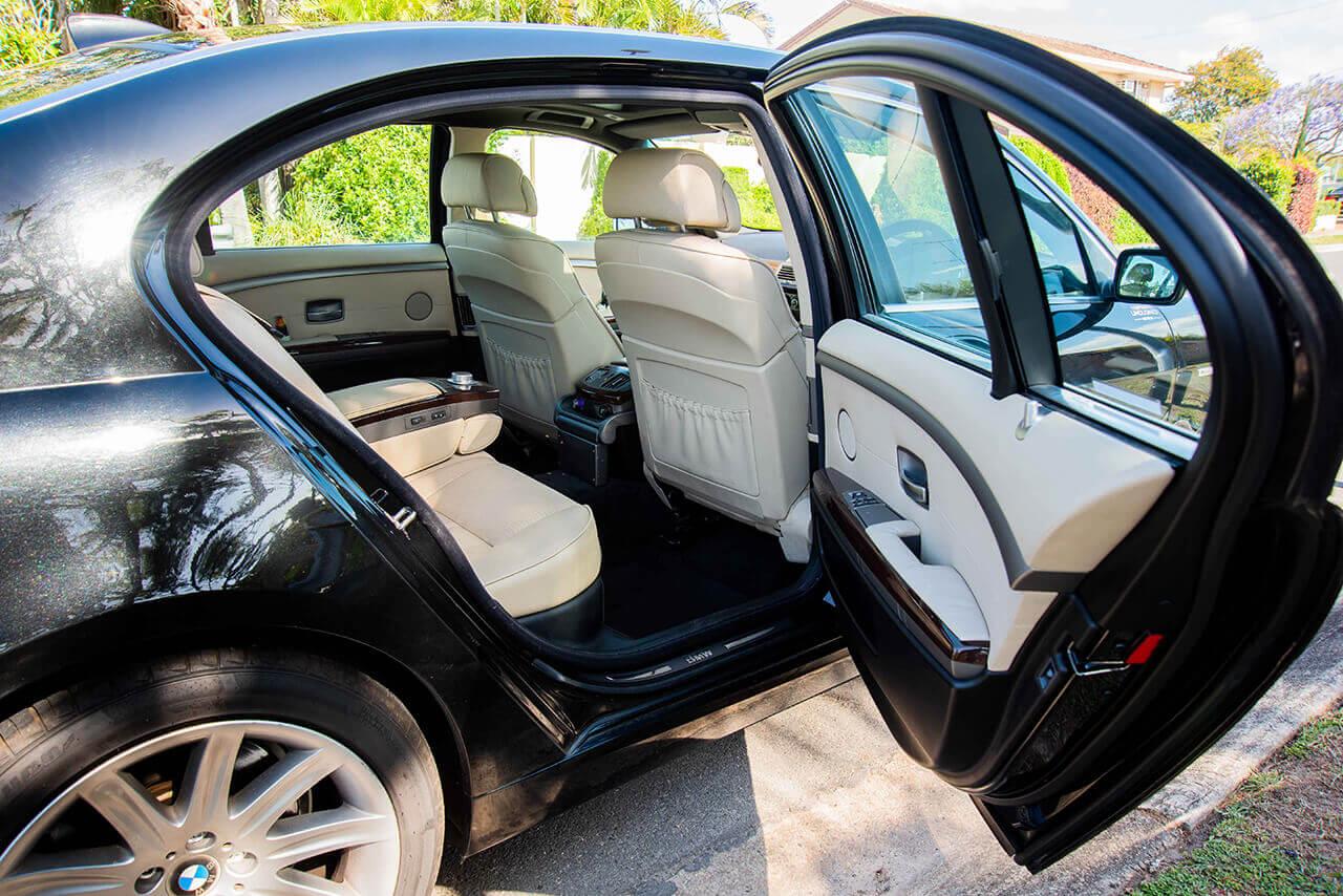 Black BMW interior