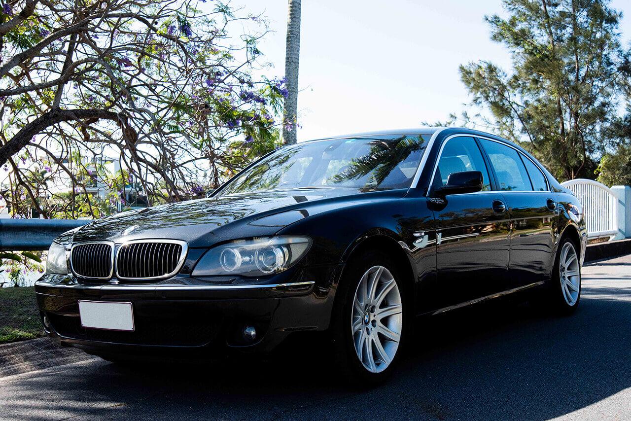 Black BMW front left picture