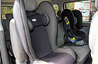 Child seats in a Corporate limousines van