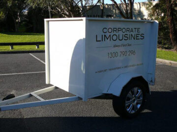 Corporate limousines fleet include luggage trailers