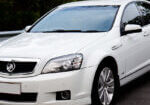 corporate limo fleet includes Holden Caprice front view
